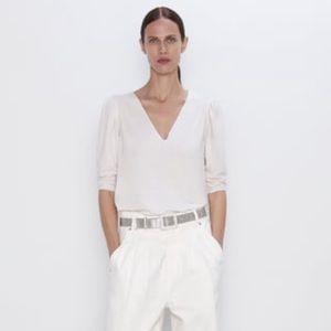 NEW Zara V-neck top